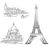Edificios famosos de París Francia libre illustration