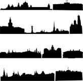 Edificios famosos de Rusia ilustración del vector