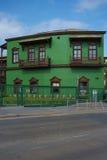 Edificios ferroviarios coloridos Imagenes de archivo