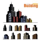 Edificios fijados Imagen de archivo libre de regalías