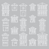 Edificios fijados Imágenes de archivo libres de regalías