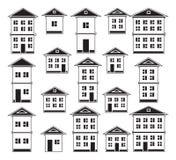 Edificios fijados Fotos de archivo libres de regalías