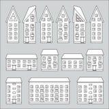 Edificios fijados Imagen de archivo