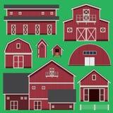 Edificios fijados con la granja Foto de archivo libre de regalías