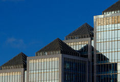 Edificios financieros Fotografía de archivo libre de regalías