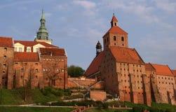 Edificios góticos en Grudziadz Fotografía de archivo libre de regalías