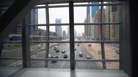 Edificios hermosos de Dubai en United Arab Emirates almacen de video