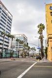 Edificios hermosos en Hollywood Boulevard el paseo famoso de la fama Fotografía de archivo libre de regalías