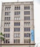 Edificios hermosos en Hollywood Boulevard el paseo famoso de la fama Foto de archivo libre de regalías