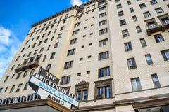 Edificios hermosos en Hollywood Boulevard el paseo famoso de la fama Imagenes de archivo