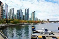 Edificios hermosos, horizonte, puerto del carbón en Vancouver céntrica, Columbia Británica Imagenes de archivo