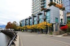 Edificios hermosos, horizonte, puerto del carbón en Vancouver céntrica, Columbia Británica Fotografía de archivo libre de regalías