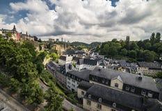 Edificios hermosos y arquitectura de la ciudad de Luxemburgo Fotos de archivo libres de regalías