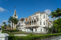 Edificios históricos alrededor de Georgetown, Guyana imagen de archivo