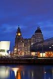 Edificios históricos de la costa de Liverpool Foto de archivo