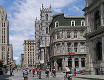 Edificios históricos de Montreal Foto de archivo