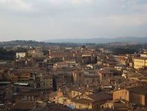 Edificios históricos de Siena fotografía de archivo libre de regalías