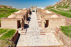 Edificios históricos de Tayikistán imagenes de archivo