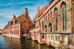 Edificios históricos en Brujas Fotografía de archivo libre de regalías