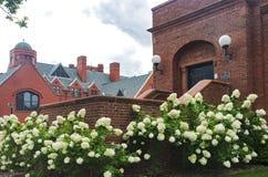 Edificios históricos en campus de la universidad en MIlwaukee foto de archivo libre de regalías