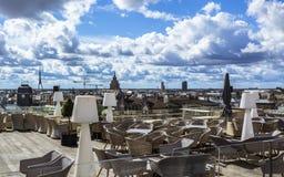 Edificios históricos en Riga vieja imagen de archivo