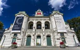 Edificios históricos en Riga vieja fotografía de archivo