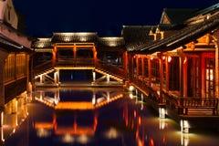 Edificios históricos en Wuzhen, China fotografía de archivo