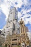 Edificios históricos y modernos en Collins Street en Melbourne, Australia Imagen de archivo libre de regalías