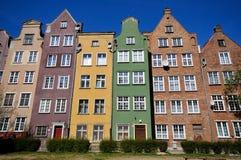 Edificios históricos en Gdansk Foto de archivo libre de regalías