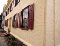 Edificios holandeses viejos en la sección histórica Schenectady NY Imagen de archivo libre de regalías