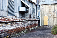 Edificios industriales abandonados Fotografía de archivo