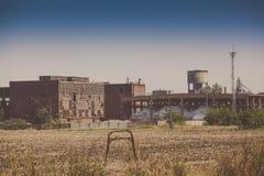 Edificios industriales abandonados Foto de archivo libre de regalías