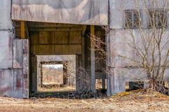 Edificios industriales abandonados Campo Fotos de archivo