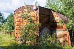 Edificios industriales abandonados en la región de Leningrad Fotos de archivo libres de regalías
