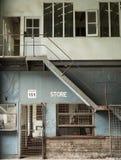 Edificios industriales abandonados, isla de la cacatúa, Sydney, NSW Fotos de archivo libres de regalías