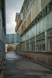 Edificios industriales abandonados, isla de la cacatúa, Sydney, NSW Imagen de archivo libre de regalías
