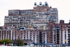 Edificios industriales en Nueva York fotografía de archivo libre de regalías