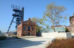 Edificios industriales viejos (museo silesio en Katowice, Polonia) Fotografía de archivo