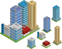 Edificios isom?tricos stock de ilustración