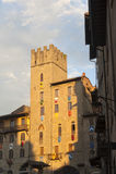 Edificios medievales en Arezzo (Toscana, Italia) Fotos de archivo libres de regalías