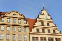 Edificios medievales en Leipzig Foto de archivo