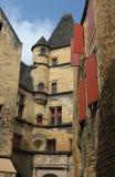 Edificios medievales en Sarlat Francia Imagen de archivo libre de regalías