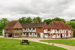 Edificios medievales reconstruidos Imagen de archivo