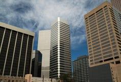 Edificios modernos céntricos en Denver, Colorado Imagenes de archivo