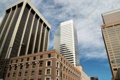 Edificios modernos céntricos en Denver, Colorado Fotos de archivo