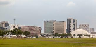 Edificios modernos de Brasilia Imágenes de archivo libres de regalías