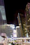 Edificios modernos de centro de Las Vegas Tiro del punto álgido Moti borroso Fotos de archivo libres de regalías