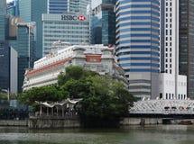 Edificios modernos de Singapur Imágenes de archivo libres de regalías