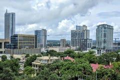 Edificios modernos en Austin Foto de archivo