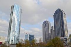 Edificios modernos en Dallas Foto de archivo libre de regalías